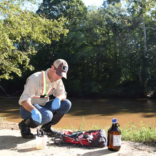 sampling on the Neuse river